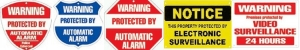 Assortment of Security Signs JPEG